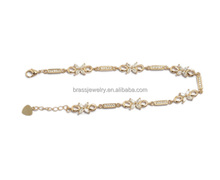 Fashion New Design Clear White AAA Zircon Paved Women's North American Bracelets