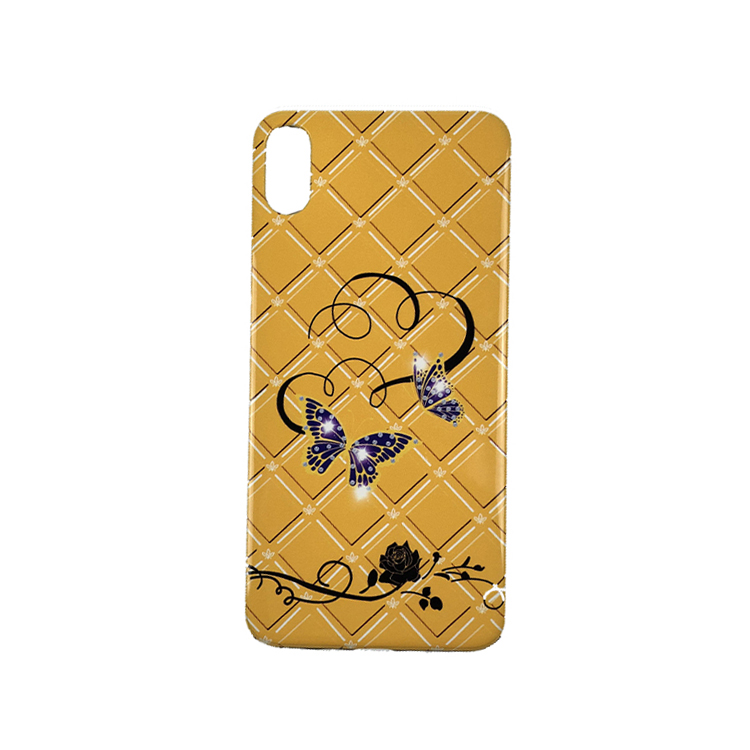 New arrival butterfly flower  custom printing case 2 in 1 tpu and pc case  lace flower mobile phone accessary for woman