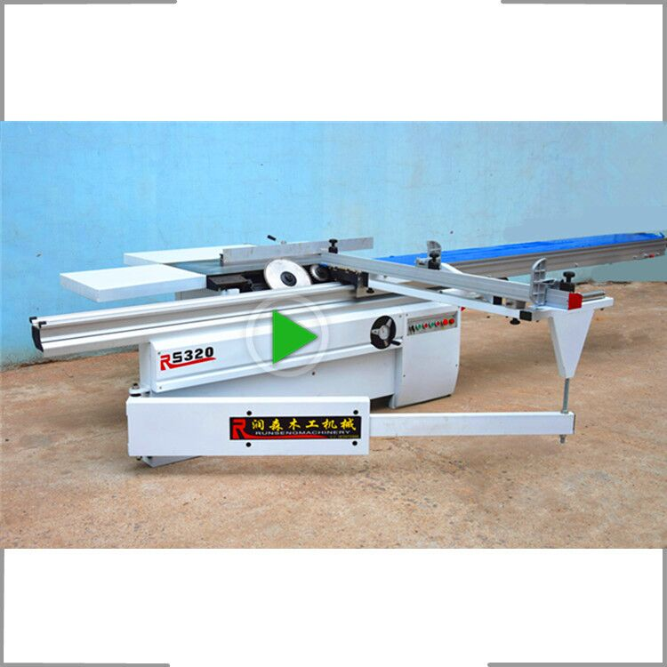 Precision wood cutting sliding table <strong>saw</strong> machine