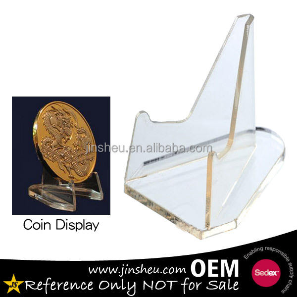 Wholesale cheap plastic acrylic coin display stand