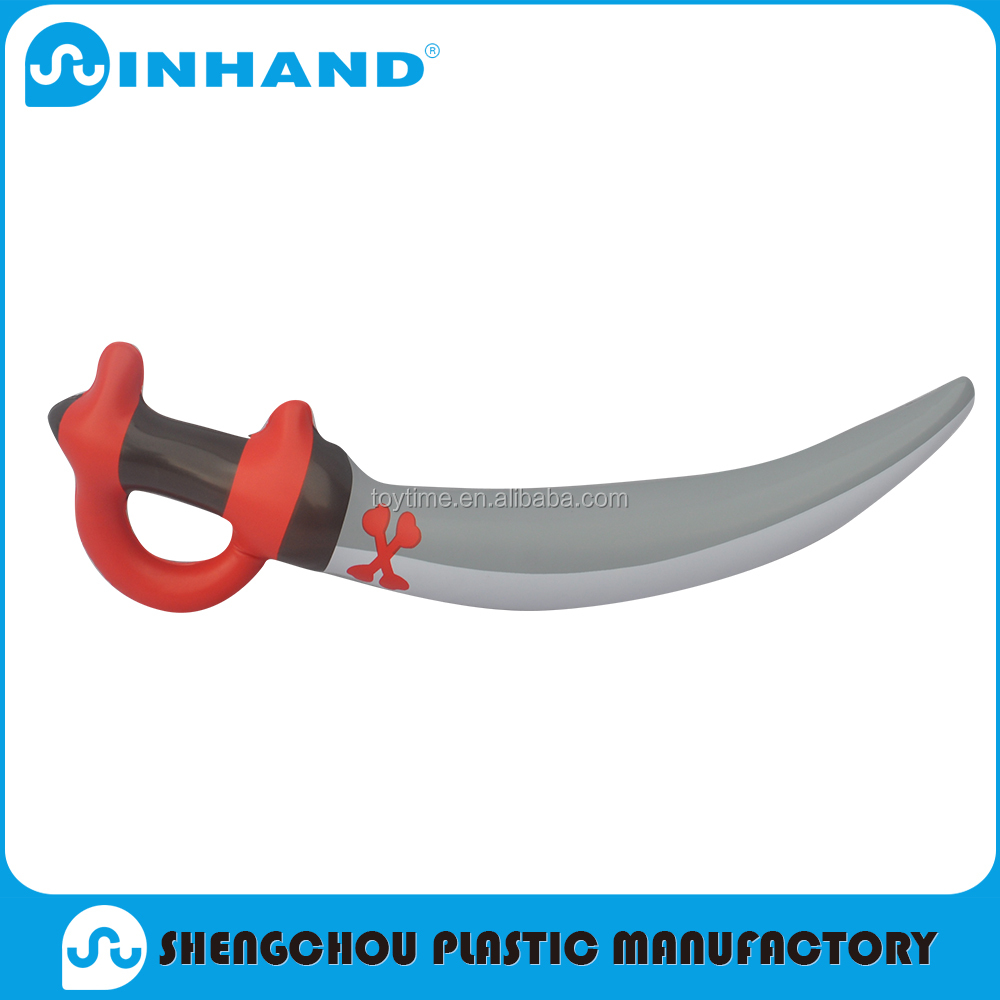Nontoxic pvc inflatable blow up pirate sword toy, promotional inflatable toys for kids playing