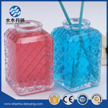 New arrived square shaped embossed 180ml reed diffuser bottle