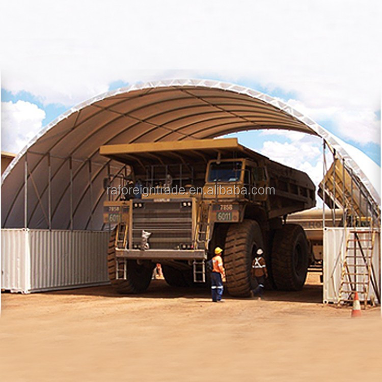 W15xL12xH3.6m dome container shelter