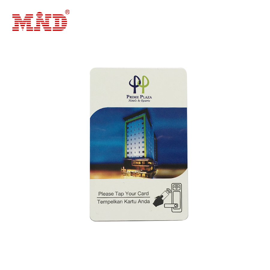 China fabriek zilver toegangscontrole rfid hotel key card