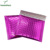 Stock Pink plastic envelope poly color metallic bubble mailers bag