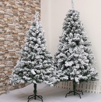6ft 7ft 8ft Green Red White Blue PVC PE PET Artificial Snowing Christmas Trees