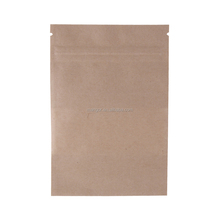 FDA Nuts Packaging Heat Seal No Printing Kraft Paper Bag With Window