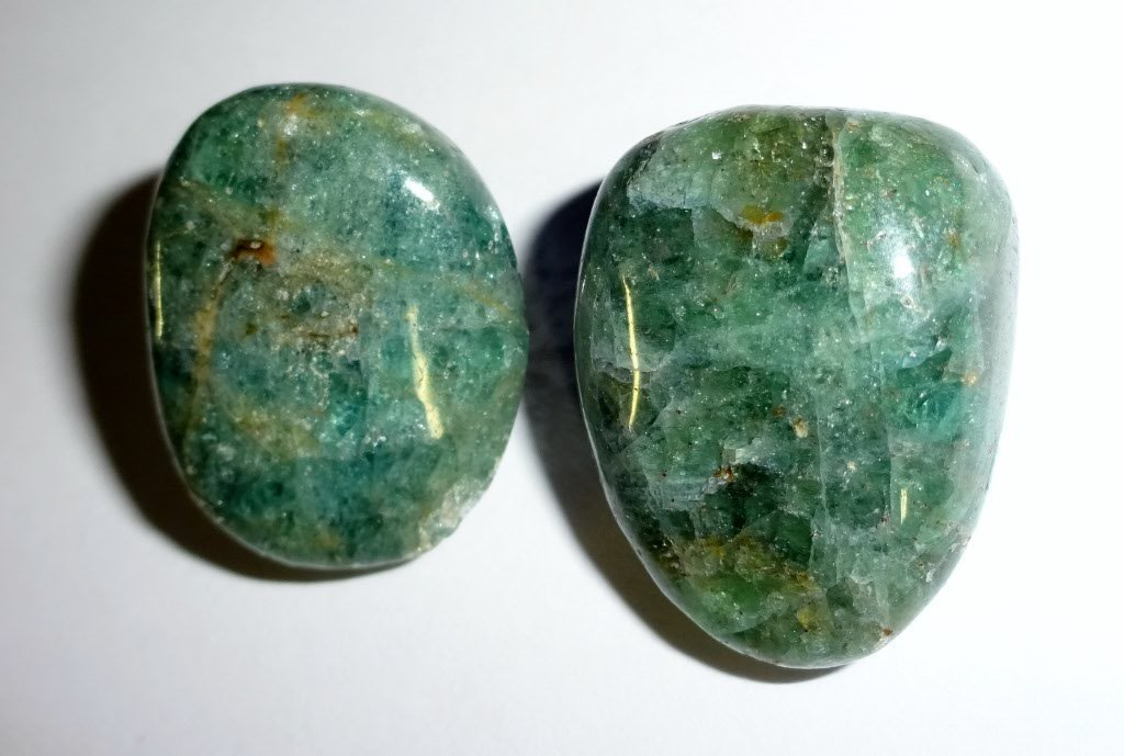 Buy 2pc #4 Blue & Green Apatite Natural A-Grade Polished ...