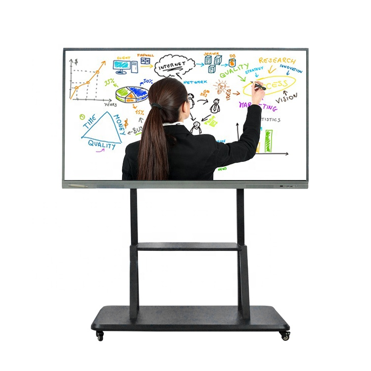 75 Inch Multi Media Educatief Whiteboard TV LCD Touch Screen White Board Smart Interactief Bord voor School