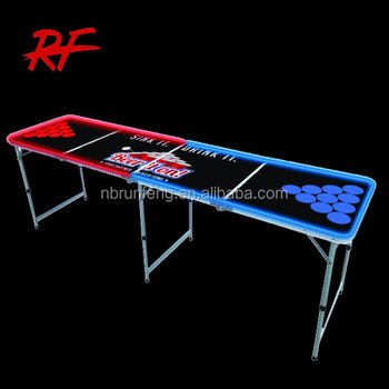 Led Beer Pong Table ,custom Led Folding Beer Table With Led