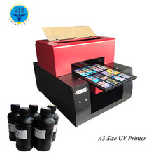 Factory sale a3 uv mini printer for phone case/wood/leather/uv led flatbed printer/plactic/a3 printer