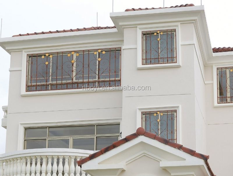 Window Grill Design Pvc Aluminum Windows For Philippines Modern Iron Wrought Safety