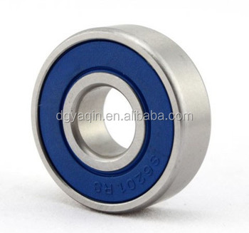Rolamento de borracha da liga 2RS / S6201 2RS 6201 2x32x10mm