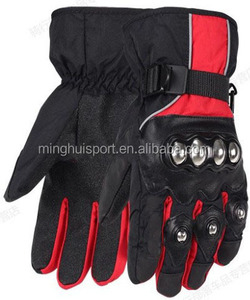 Wholesale Motorbike Racing Gloves Genuine Leather Motocross gloves Winter Cycling Warm Heated Gloves