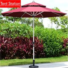 Sungarden Parasol Voet.Dubbellaags Rode Luifel Zon Tuin Parasol Paraplu Onderdelen