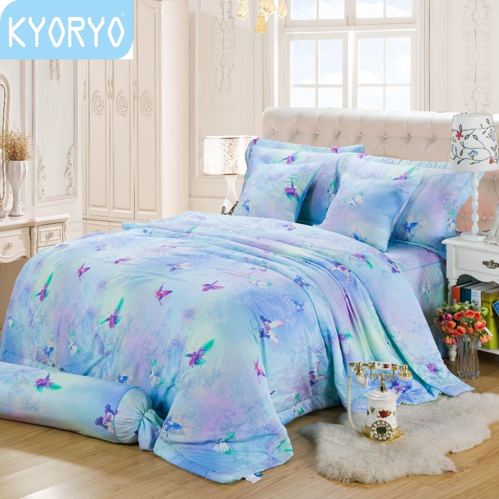 High quality minty aroma modal fabric floral printing bedding set for summer