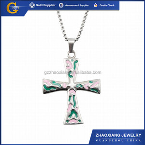4e70f6b9d8e4d Stainless Steel Religious Pendant Charms RPC0207 green Greek Cross