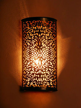 Moroccan brass wall lightsconce and its fine openwork pattern moroccan brass wall light sconce and its fine openwork pattern moroccan decoration aloadofball Choice Image