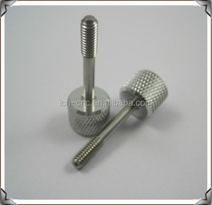 Fabrication Service CNC Turned Machining aluminum custom Knurled rolling Pins for automatic machines