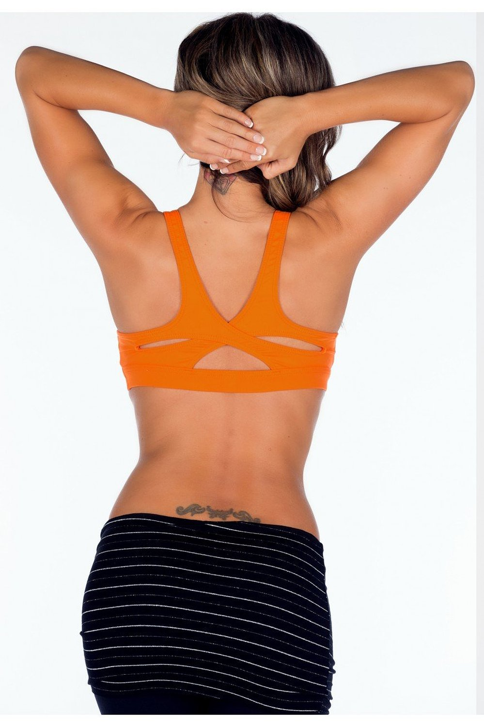 390e835963 Get Quotations · Lino Fitness Sports Wear Bra Top with Criss Cross Back