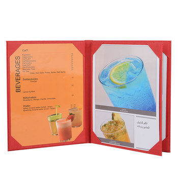 Best selling quality leatherette sign three fold menu board