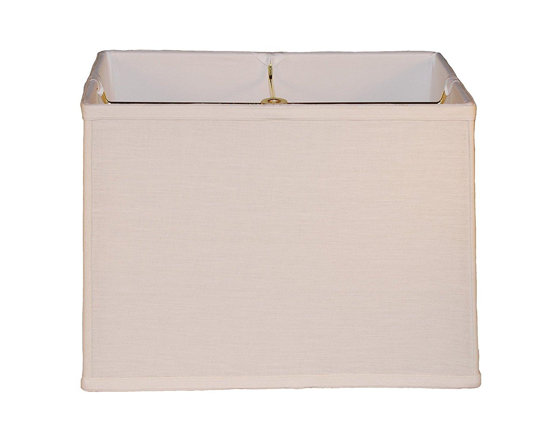 "16"" cream rectangle Belgian linen lamp shade"