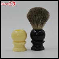 Pure badger hair shaving brush,Resin handle 100% handmade shaving brushes