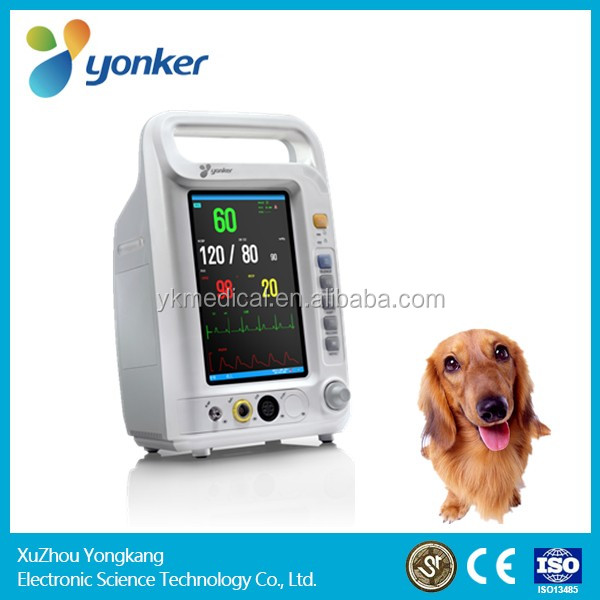 Yongkang 7 inch Operating Room multiparametro etco2 gases Veterinary Patient Monitor