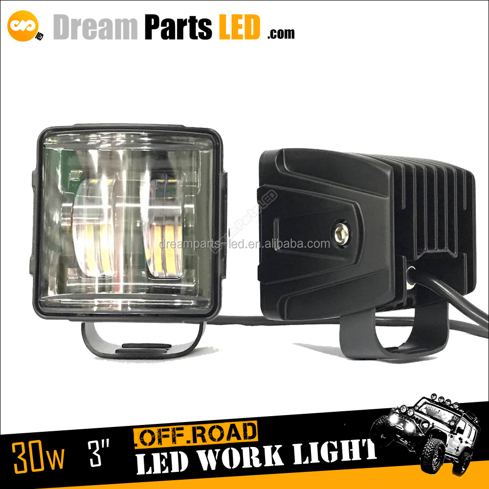 Motorcycle Accessories 4x4 Offroad 3inch LED Cars Light with 30w Car Auto LED foglight LED 6500K LED motorcycle Light