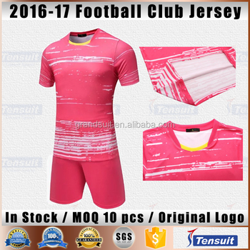 d38fc934b77 soccer jersey manufacturer in China low MOQ grade original customize blank soccer  jersey striped no brand