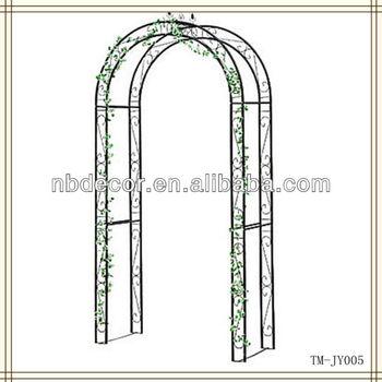 New Design Black Color Metal Garden Arch