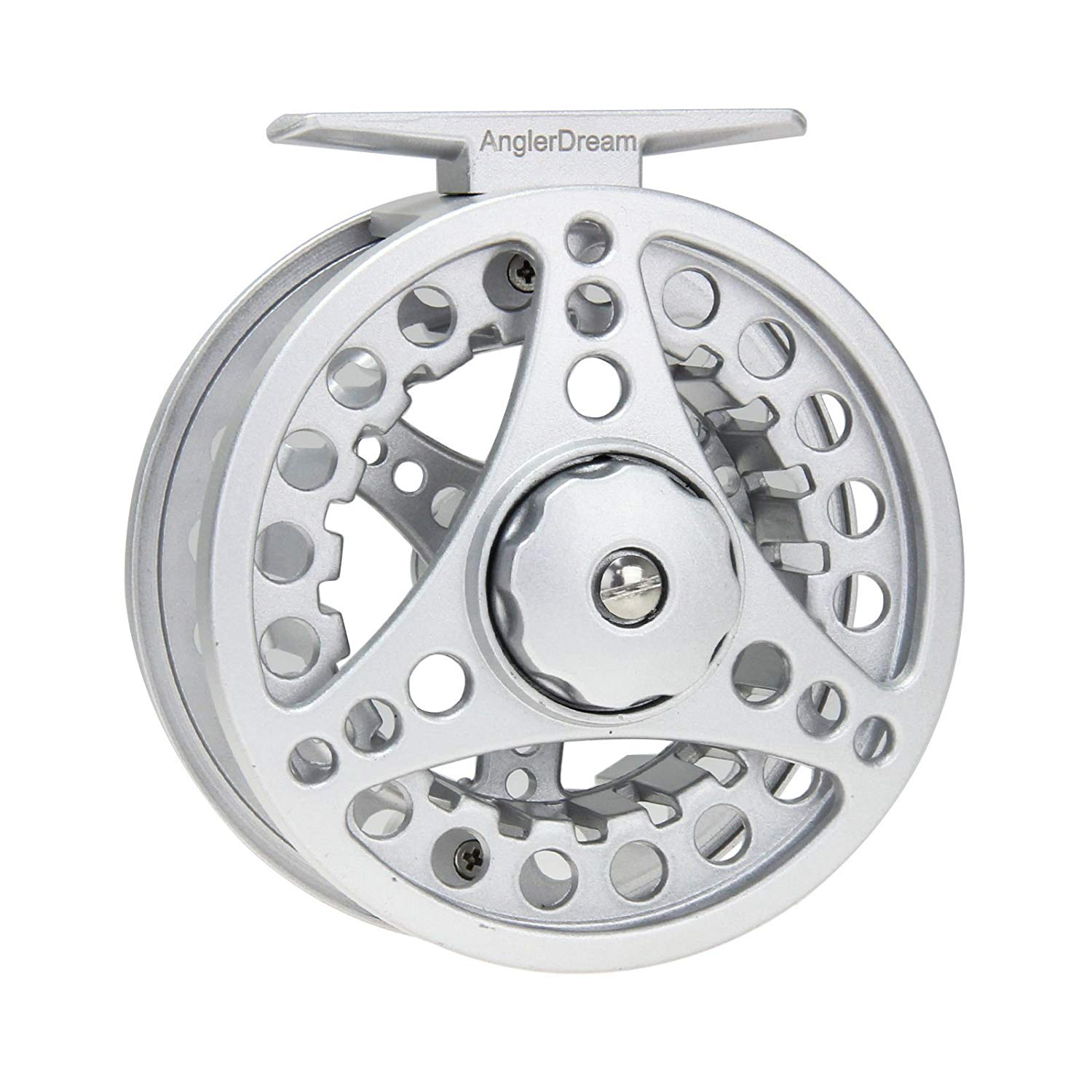 AnglerDream Die Casting Fly Fishing Reel ALC Reel Large Arbor Smooth Spare Spool 1/2 3/4 5/6 7/8 WT Silver Black Hand Changeable Fly Reel