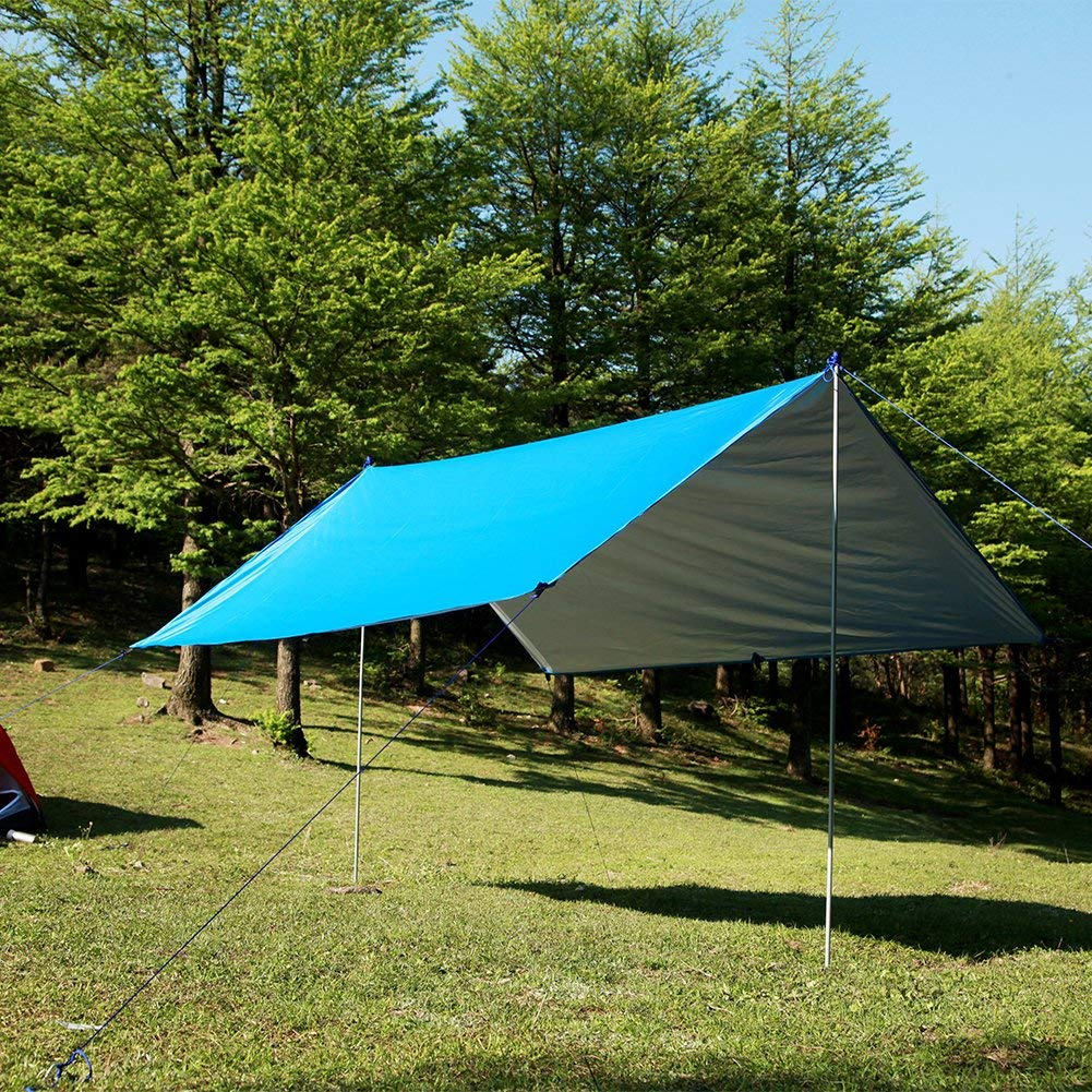 ARRON Hammock RAIN Fly Tent TARP - Ripstop Nylon Waterproof Rain Fly Shelter -Resist UVA/UVB - Camping Hammock Tarp