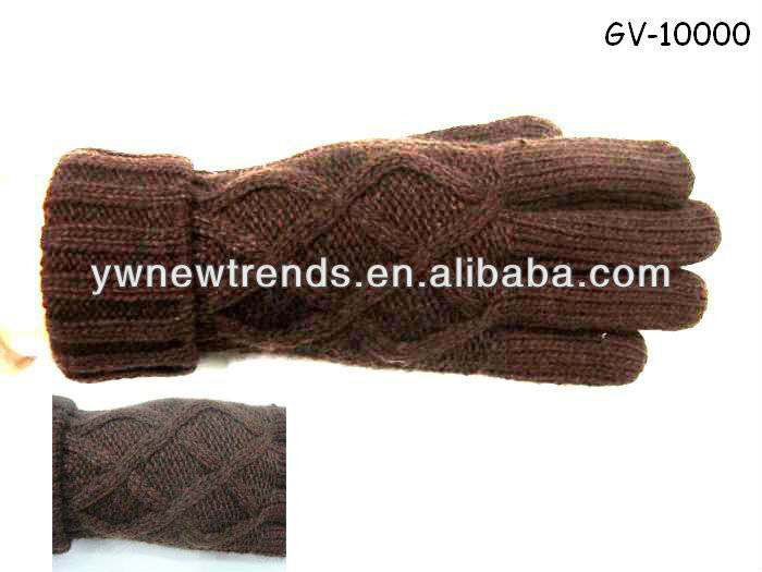 Fashionable jacquard knitted glove GV-10000