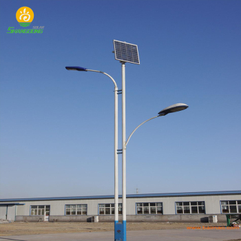 Factory 6m Pole 30w Solar Street Light Project In Saudi