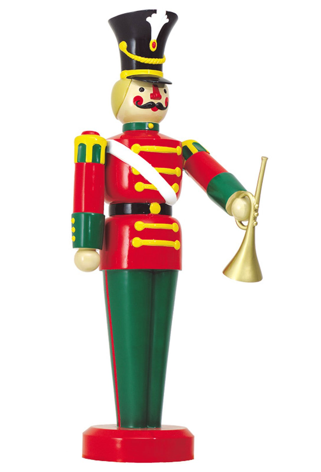 large life size toy soldier with trumpet outdoor christmas decorations ds 55 10032
