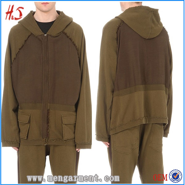 Dongguan Hotsell OEM High Quality Long Line Apparel Brown Oversized Plain Pullover Xxxxl Hoodies