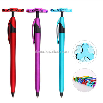 New item spinner ball pen with customer logo school supplies pen for gifts