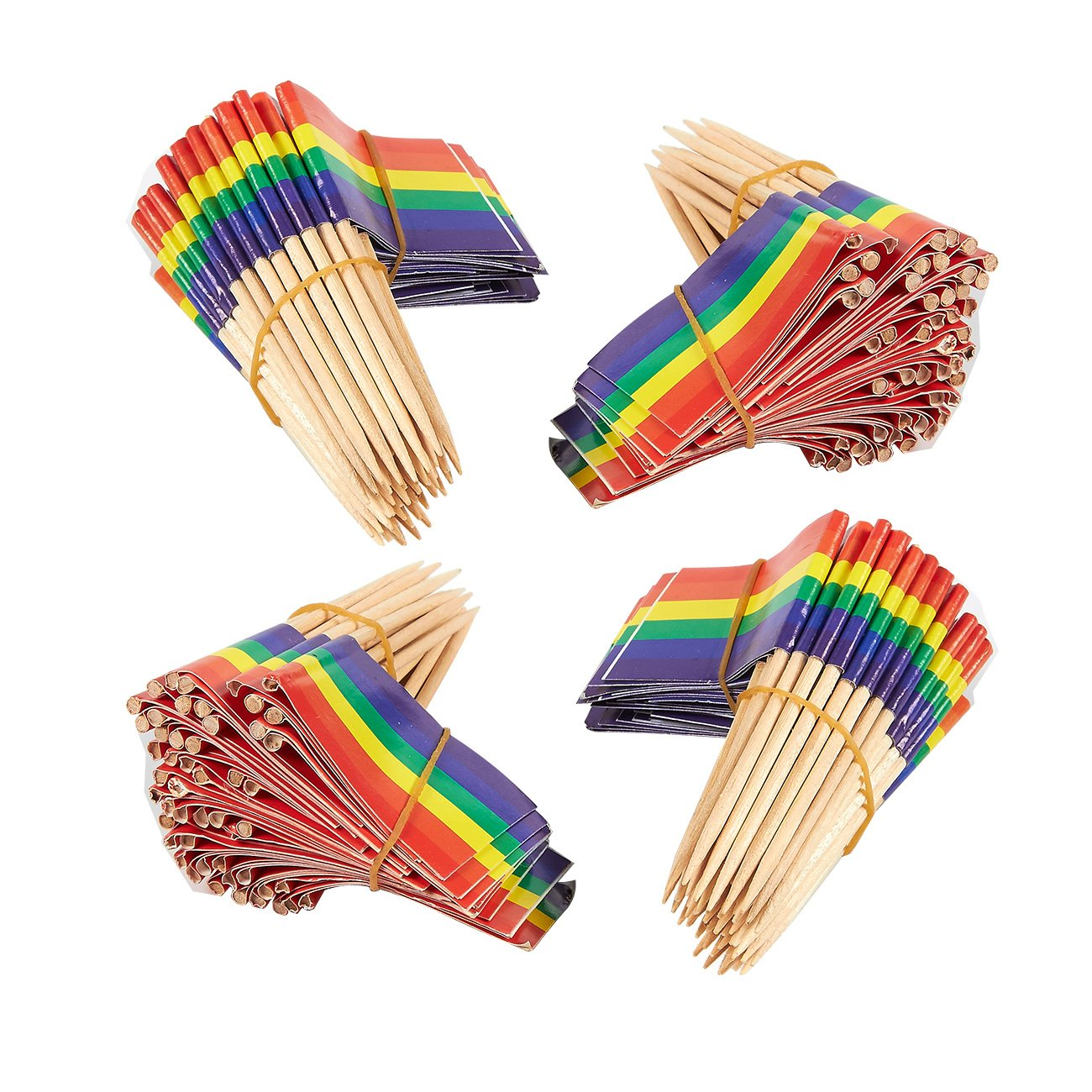 8254026d597 Get Quotations · 200 Count Rainbow Flag Picks - Party Cocktail Toothpicks  for Food