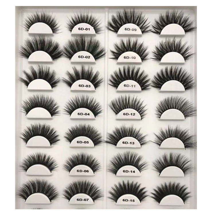 8c52654e2aa wholesale 6d faux mink eyelash custom label cruelty free vegan lashes 6d  silk eyelashes