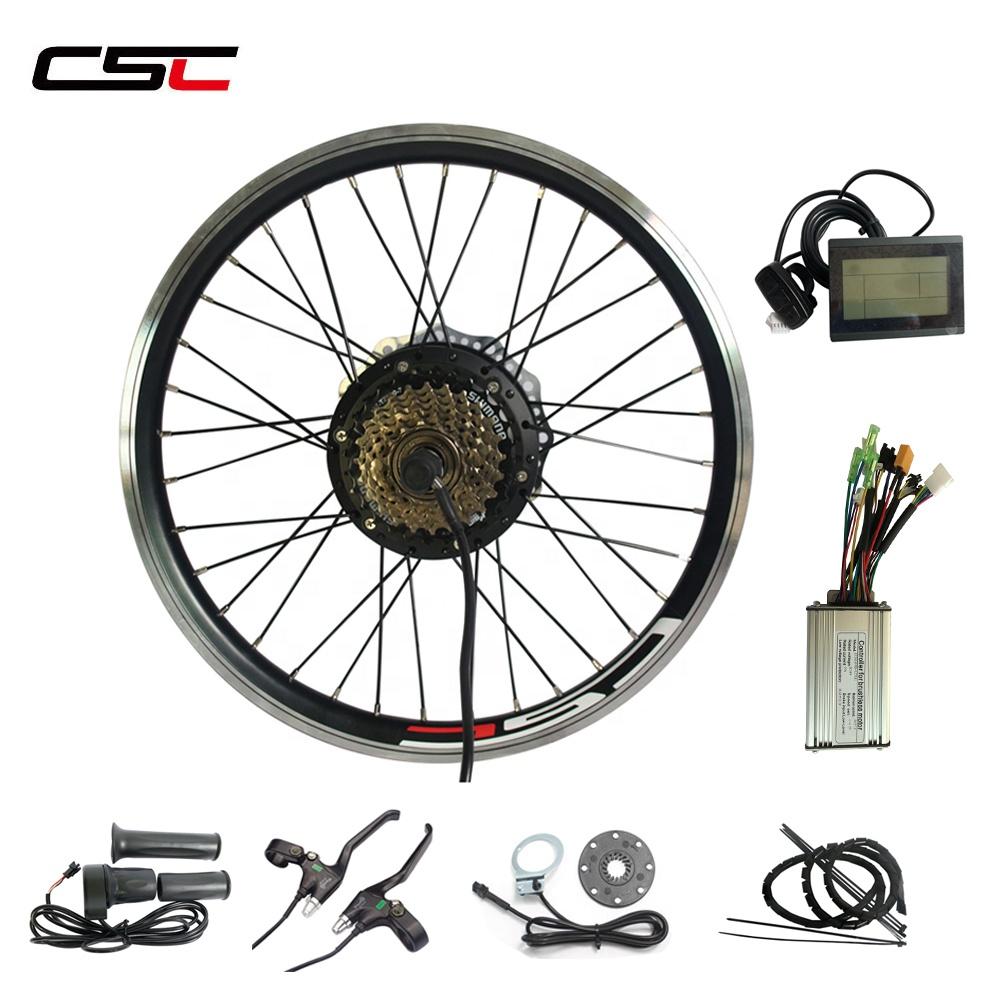 CSC Big Promotion High quality 36V 500W Electric E bike kit Free Shipping Bicycle Rear Hub Motor Conversion Kit e bicycle kit