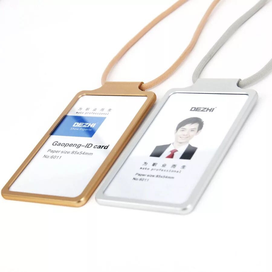 Metal Id Card Working Card Case Badge Holder For Employee Id Card