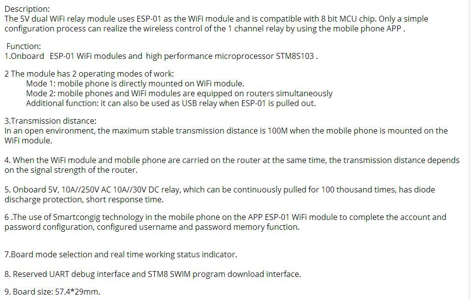 5v Esp-01 Esp8266 Wifi Relay Module Esp8266 Relay - Buy Wifi Relay  Control,Wifi Relay Switch,Wifi Relay Product on Alibaba com
