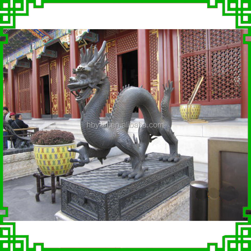 Life Size Bronze Chinese Dragon Statue