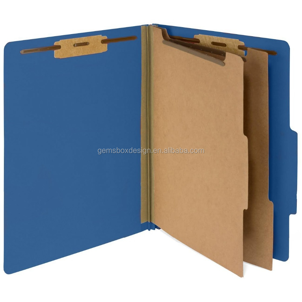 cardboard clip custom package expansion classification folder
