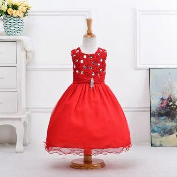 Robe fille rouge noel