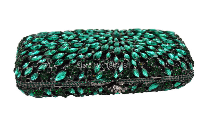 Detail Feedback Questions about Green Luxury crystal clutch bag red ... 1fdf2d009dc2