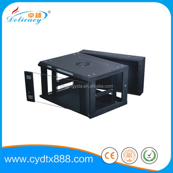 Double Section Wall Mounted Server Rack Network Cabinet 2u 4u 6u ...