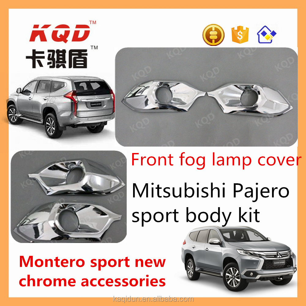 Chrome Fog Light Trims For Mitsubishi Pajero Accessories Chrome ...