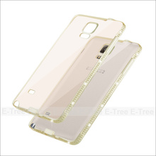In stock crystal thin TPU diamond bumper case for Samsung Galaxy Note 4, dot view case for samsung galaxy note 4